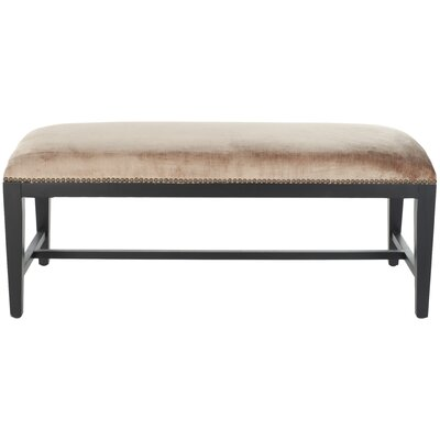 Kaylie Two Seat Bedroom Bench Color: Dark Champagne