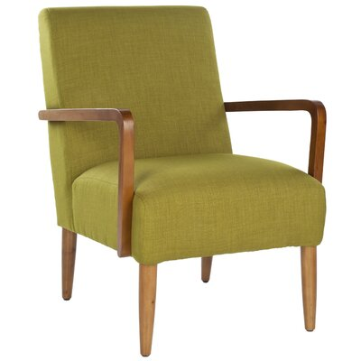 Jane Linen Arm Chair Color: Green