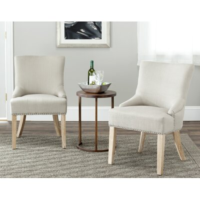 York Upholstered Dining Chair Upholstery Color: Light Taupe, Leg Color: Espresso