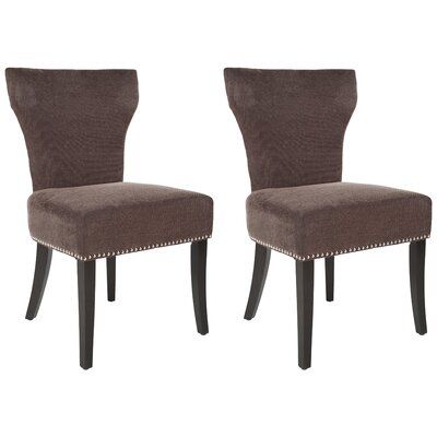 Maria Upholstered Dining Chair Color: Brown