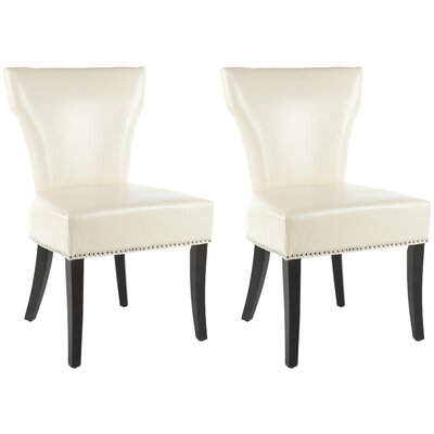 Maria Upholstered Dining Chair Color: Cream