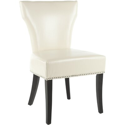 Maria Side Chair Upholstery: Bi-cast Leather - Cream