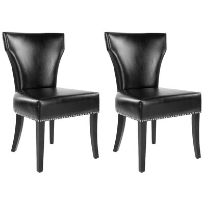 Maria Upholstered Dining Chair Color: Black