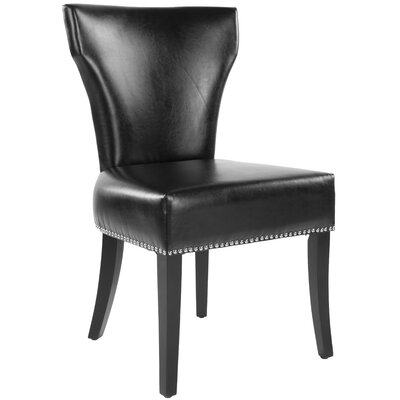 Maria Side Chair Upholstery: Bi-cast Leather - Black