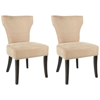 Maria Upholstered Dining Chair Color: Wheat