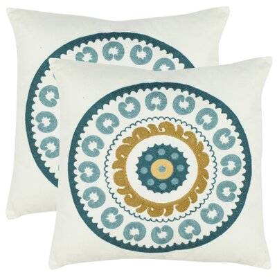 Cotton Throw Pillow Color: Devin Turquoise