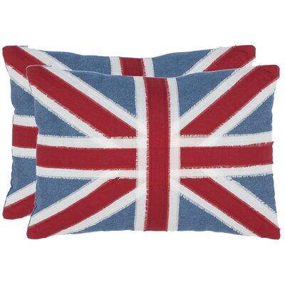 Judah Cotton Lumbar Pillow Color: Red