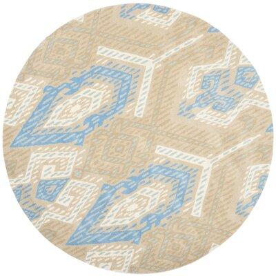 Wyndham Blue / Ivory Rug Rug Size: Round 7'