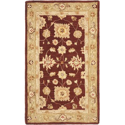 Anatolia Red/Sage Area Rug Rug Size: Rectangle 6 x 9