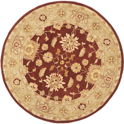 Anatolia Red/Sage Area Rug Rug Size: Round 8