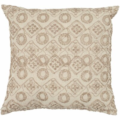 Sarah Cotton Throw Pillow Size: 18, Color: Stone
