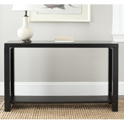 Lease to own Lahoma Console Table Finish: Black...