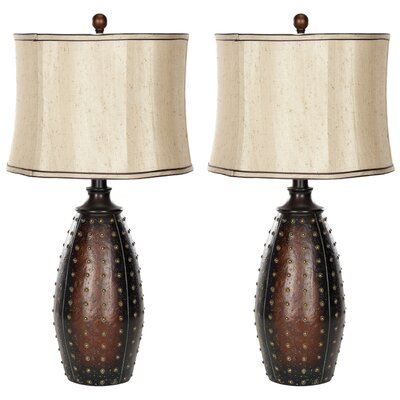 Leather 28 Table Lamp
