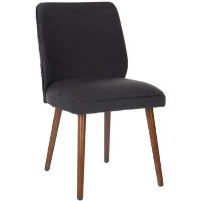 Zara Side Chair Upholstery: Black