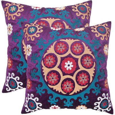 Laurel Throw Pillow Size: 18