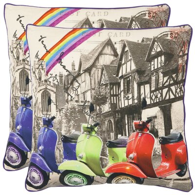 Vienna Cotton Throw Pillow Size: 18 H x 18 W