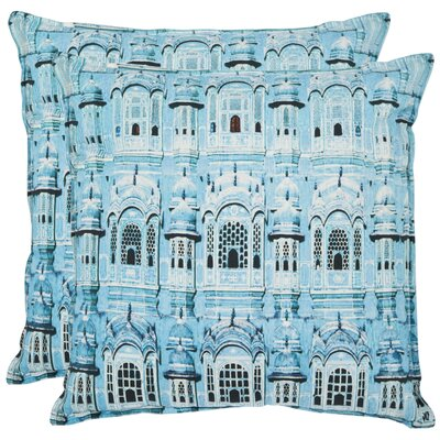 Verona Cotton Throw Pillow Size: 18 x 18