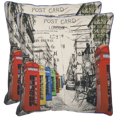 London Cotton Throw Pillow Size: 18 x 18