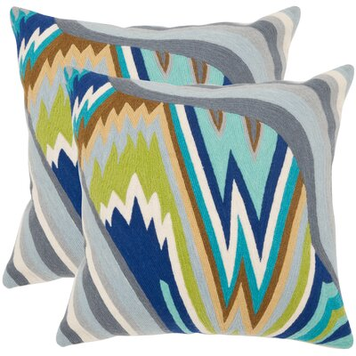 Bolt Cotton Throw Pillow Size: 18 H x 18 W