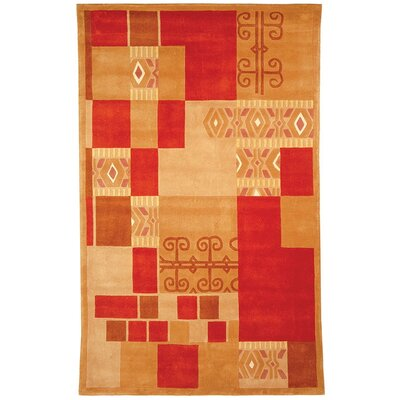 Rodeo Drive Red/Brown Area Rug Rug Size: Rectangle 3'6