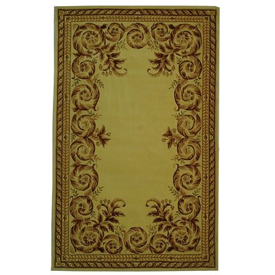 Naples Green/Brown Area Rug Rug Size: 26 x 46