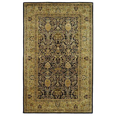 Persian Legend Black/Light Orange Area Rug Rug Size: 9'6