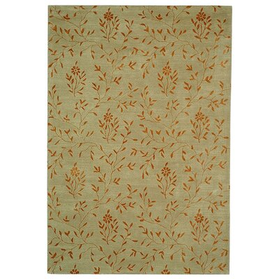 Blandinsville Hand-Tufted Sage/Rust Area Rug Rug Size: Rectangle 36 x 56