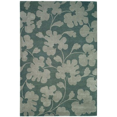 Soho Light Blue/Silver Area Rug Rug Size: 76 x 96