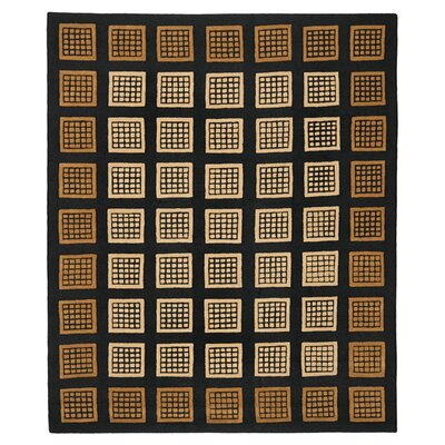 Soho Domino Black / Coffee Contemporary Rug Rug Size: 76 x 96