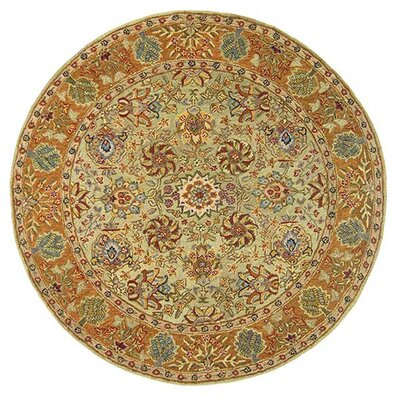 Anatolia Brown Area Rug Rug Size: Round 8