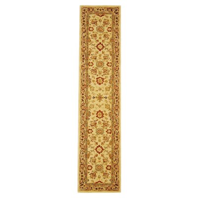 Anatolia Ivory/Brown Rug Rug Size: Runner 23 x 8