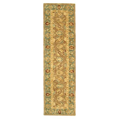 Anatolia Hand-Tufted Yellow/Green Area Rug Rug Size: Runner 23 x 12