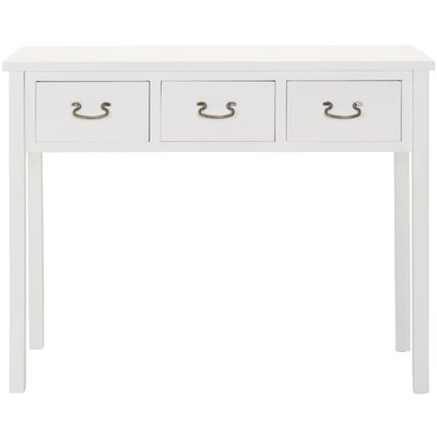 No credit financing Cindy Console Table Color: White...