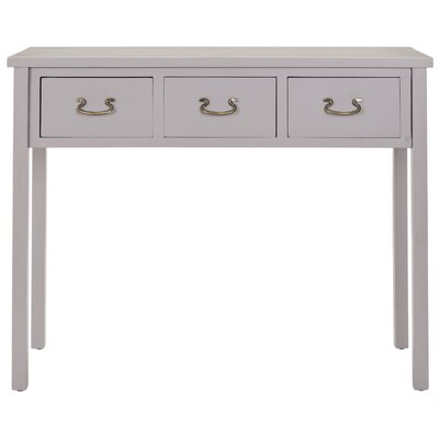 In store financing Cindy Console Table Color: Grey...