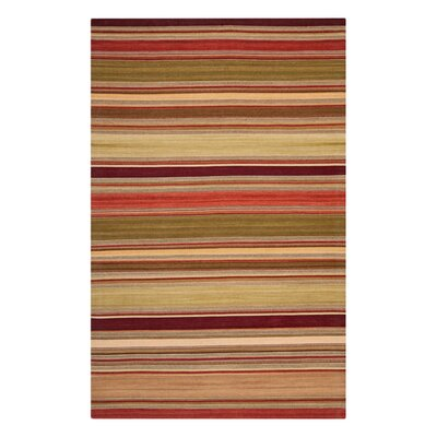 Striped Kilim Red Rug Rug Size: 10 x 14