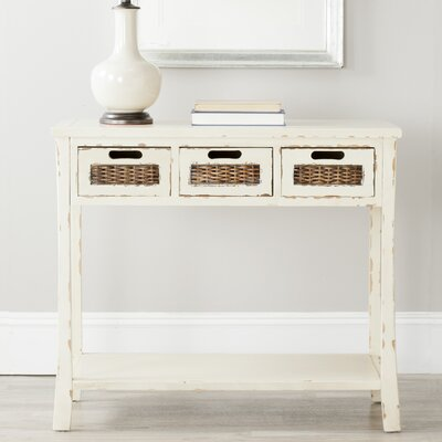 Console Table Color: Vintage Cream