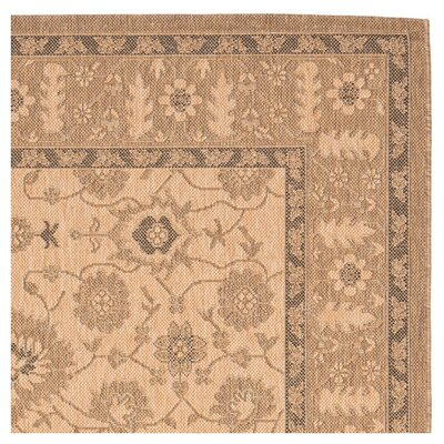 Bexton Natural / Gold Indoor/Outdoor Rug Rug Size: 67 x 96
