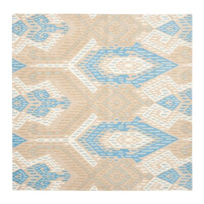 Wyndham Blue / Ivory Rug Rug Size: Square 7'