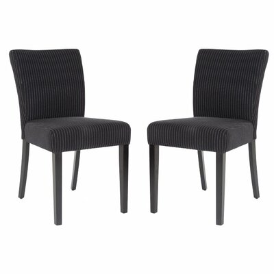 Mavis KD Parsons Chair Upholstery: Black/Cream Stripe