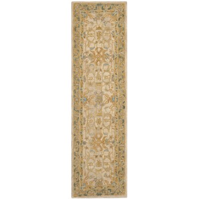 Anatolia Ivory/Brown Area Rug Rug Size: Runner 23 x 8