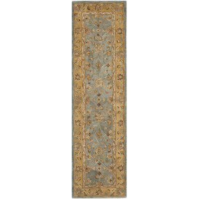 Anatolia Blue/Green Area Rug Rug Size: Runner 23 x 8
