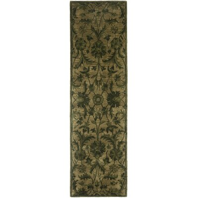 Dunbar Hand-Tufted Wool Olive Area Rug Rug Size: Rectangle 9 x 12