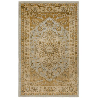 Austin Light Grey/Gold Area Rug Rug Size: Rectangle 53 x 76