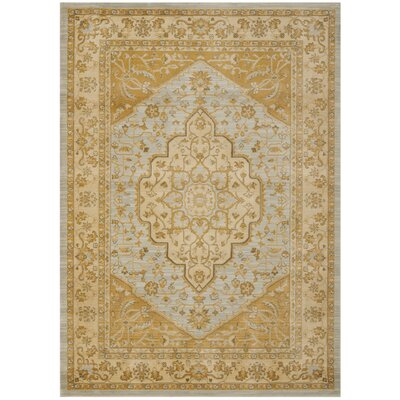 Austin Light Grey/Gold Area Rug Rug Size: 53 x 76