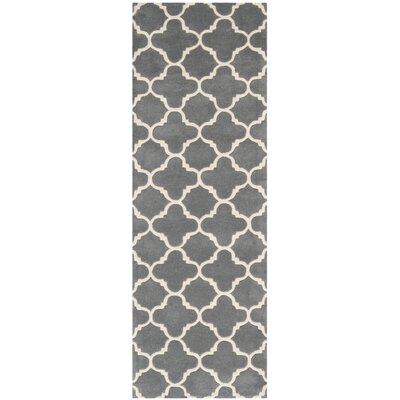 Averett Dark Grey & Ivory Area Rug