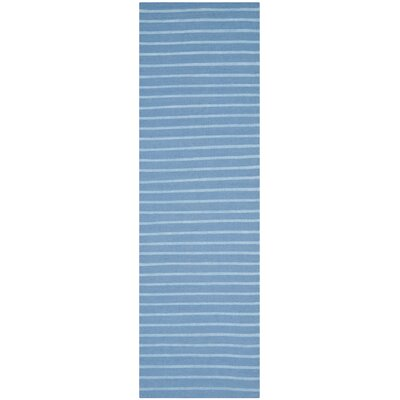 Dhurries Blue Area Rug Rug Size: Runner 26 x 8