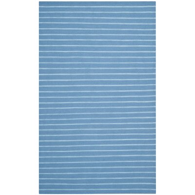 Dhurries Blue Area Rug Rug Size: Rectangle 8 x 10