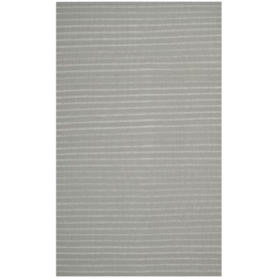 Dhurries Grey Area Rug Rug Size: 6 x 9