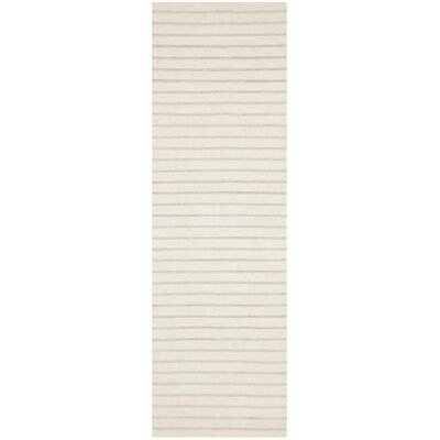 Dhurries Ivory Area Rug Rug Size: Runner 26 x 8