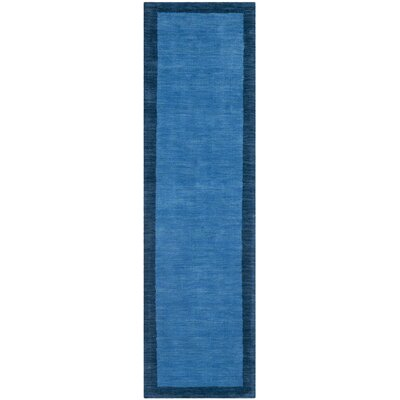 Southbury Hand-Loomed Blue Area Rug Rug Size: Runner 23 x 8
